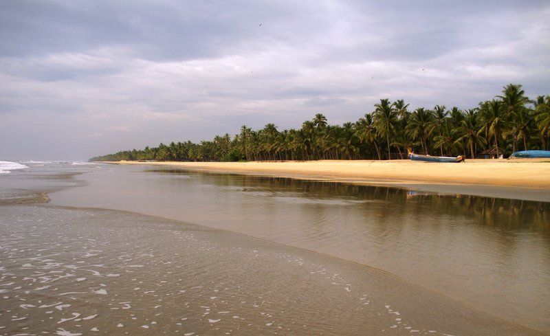 Picturesque sea beach of Kerela