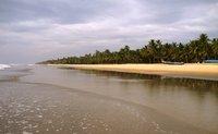 Picturesque sea beach of Kerela