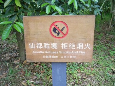No need for caution then, it&#39;s impervious to fire and smoke