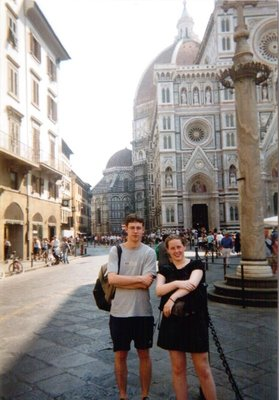 Bill and Julie at the Duomo, Florence