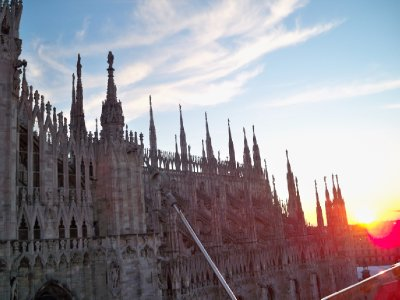 Sunest over the Duomo di Milano