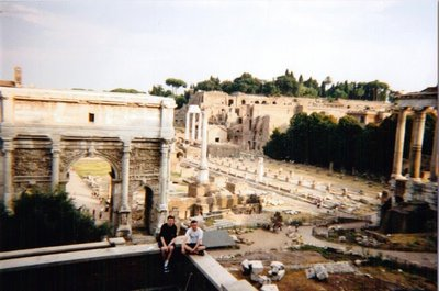 Bill and Ollie at the Roman Forum