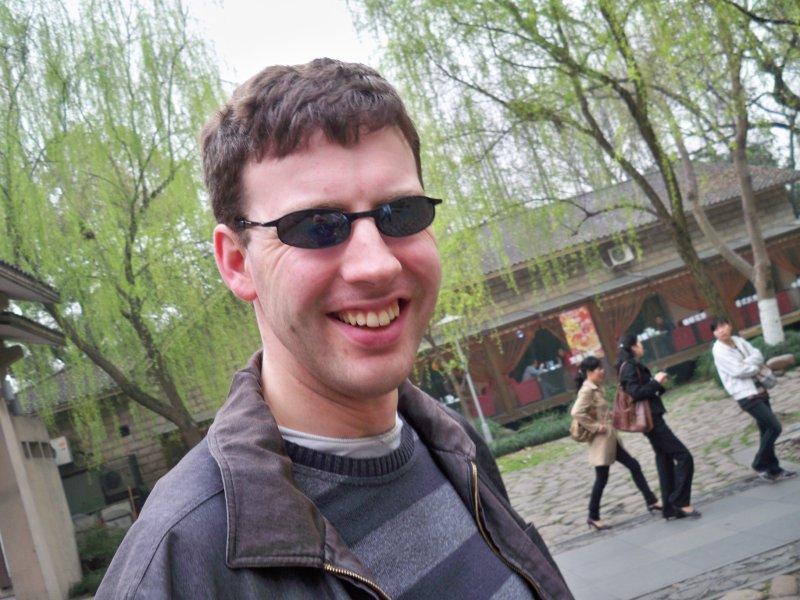 Bill at the park at the West Lake