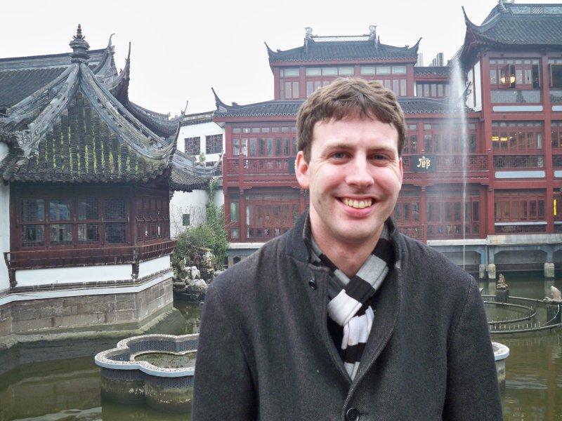 Bill at the Yuyuan Gardens