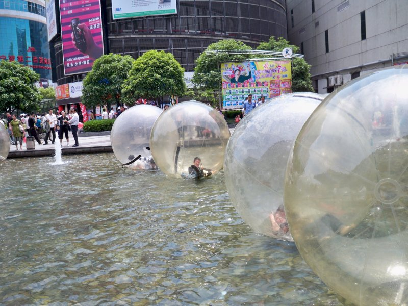 Water zorbs. Don't seem that much fun to be honest