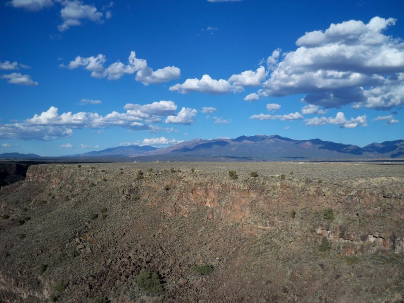 View from the Rio Grande gorge