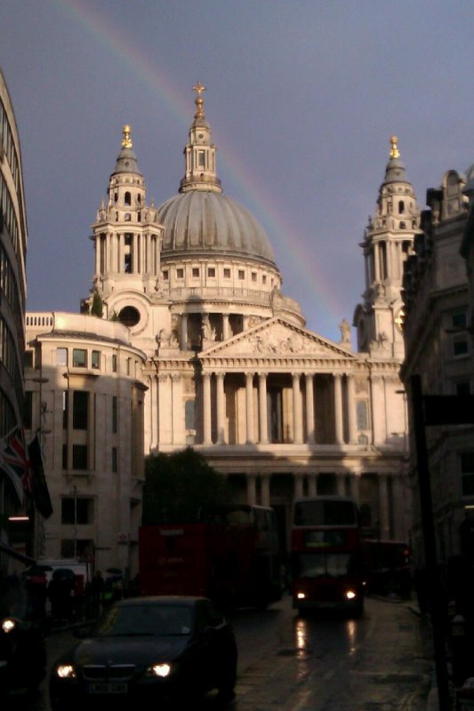 Rainbow at St Paul&#39;s Cathedral