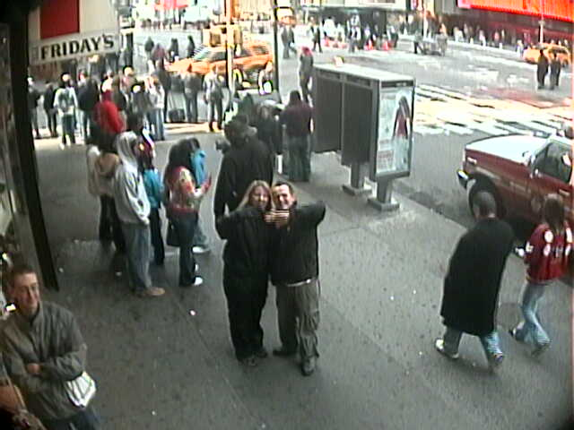 Webcam shot, Time Square