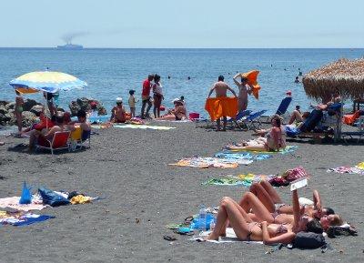 Perissa Beach Santorini