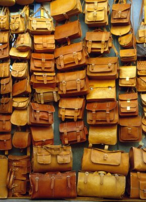 Leather Bags in Hania Market