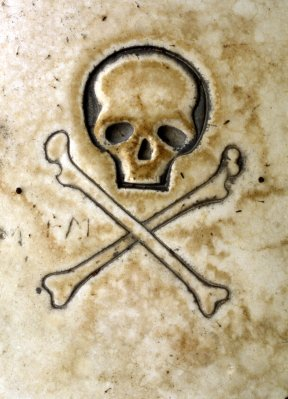 Byzantine Skull and Cross Bones
