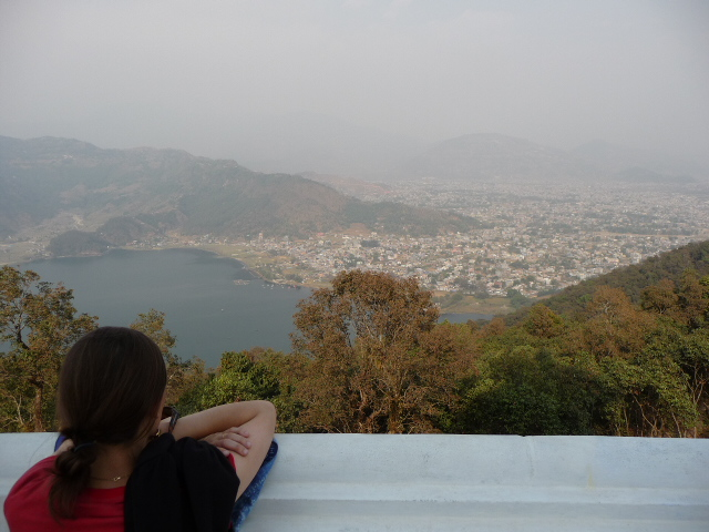 View of Pokhara from peace pagoda