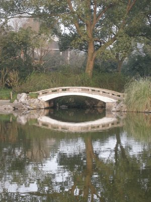 Bridge over the water in West Lake