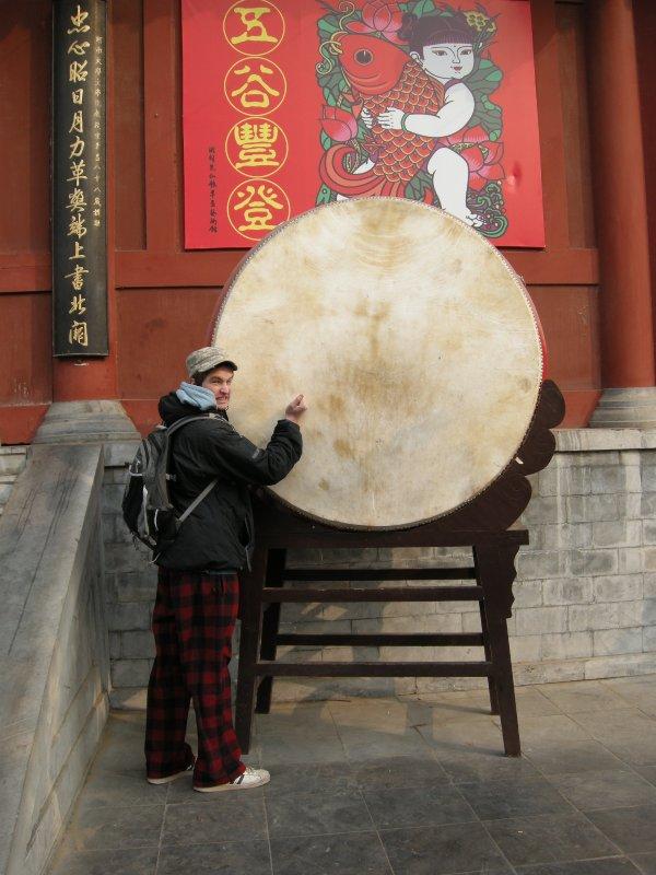 Drumming at Kaifeng House