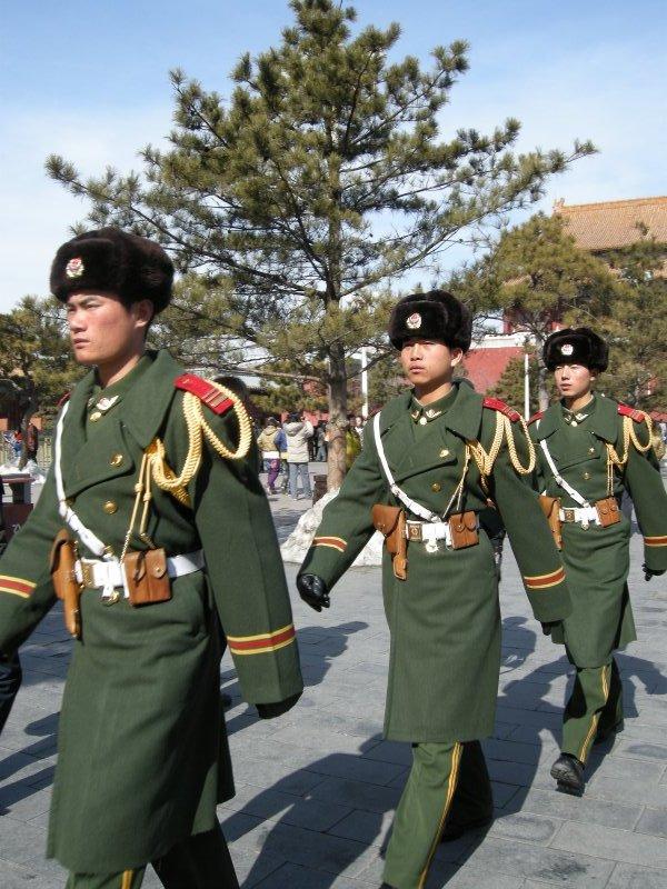 Guards at Tianamen