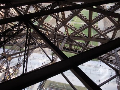 View From Inside the Eiffel Tower