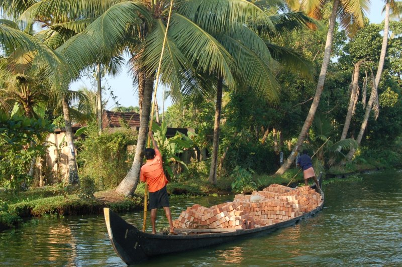 Brick boat backwaters