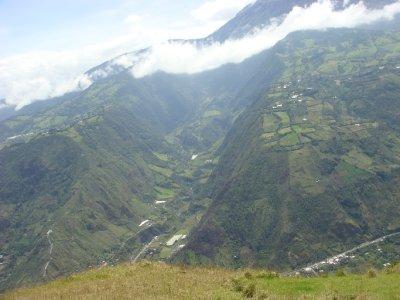 hillsides by volcano