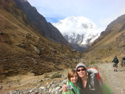 Ariel and I with Salkantay mt