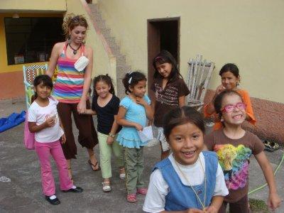 Olivia and kids