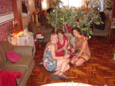 our Xmas party Mickala, Dorsey, Olivia