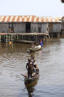 Stilt village transportation