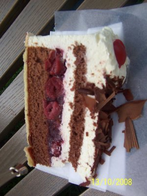 The Schwarzwälder Kirschtorte (Black Forest pastry)