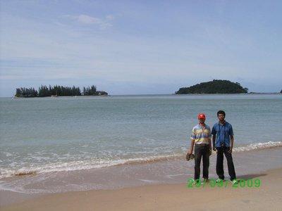 At the Pantai Kok Beach