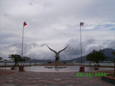 At the Eagle Square in Kuah