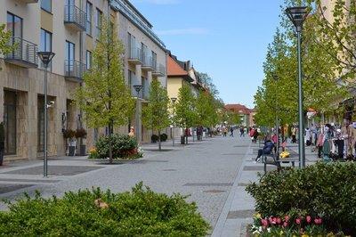 Pedestrian street Hévíz