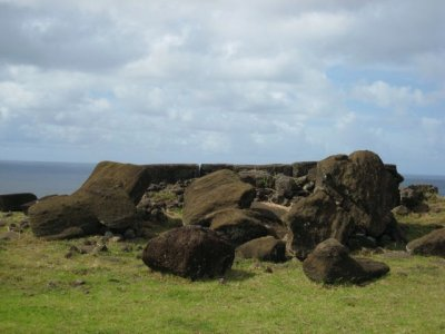 Toppled Moai