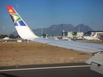 Cape Town, South Africa airport & Table Mountain