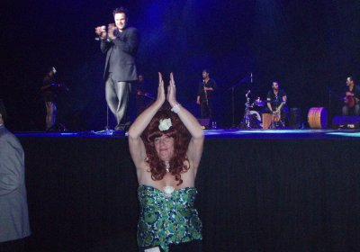 Dances to the beat of a Turkish Band at the gala part in SunCity