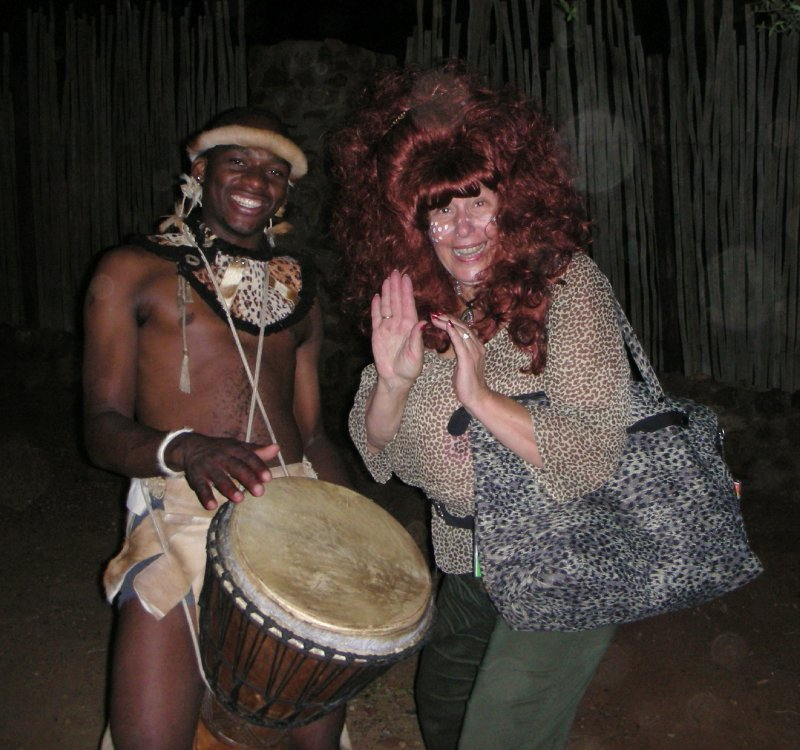 Big bongos in SunCity at a Boma dinner event