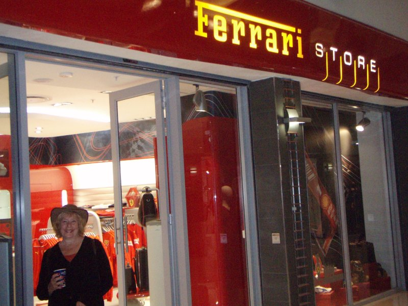 Ferrari store inside the Johannesburg, South Africa airport