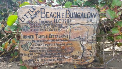 Little corn beach and bungalow
