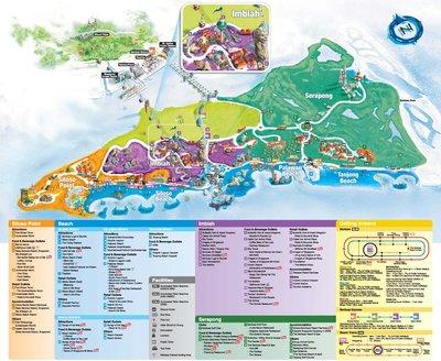 map of sentosa island