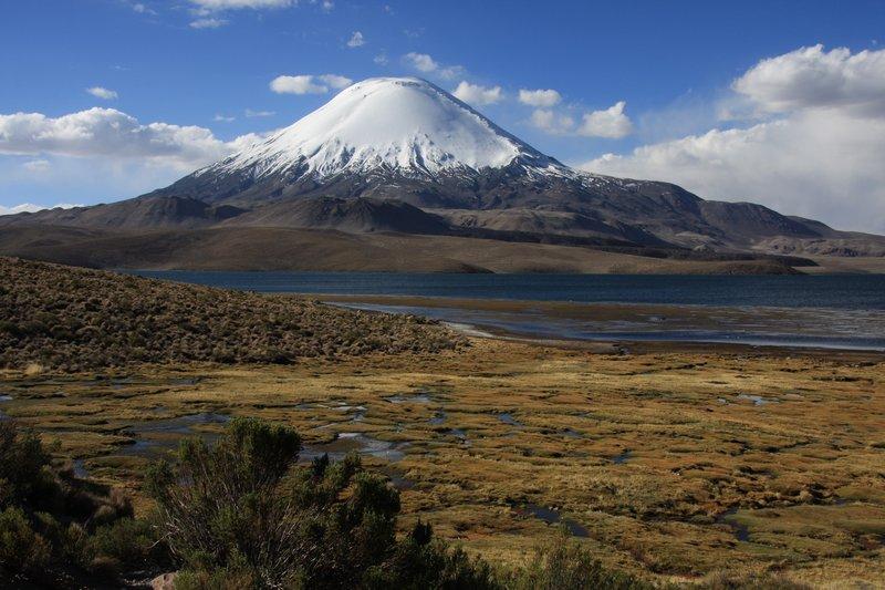 Vulkan Parinacota & Lago Chungara, 4500 m