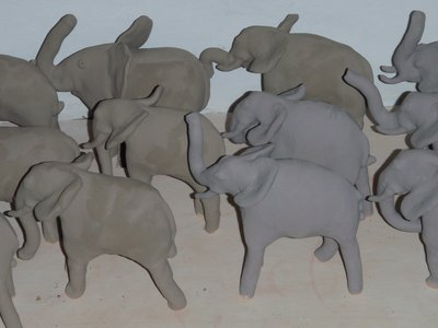 Pottery Elephants