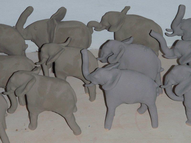 Pottery Elephants