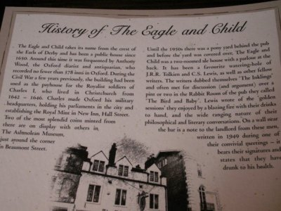Eagle and Child History