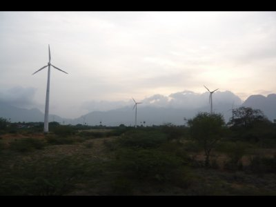 Windmills - View from Train to Madurai