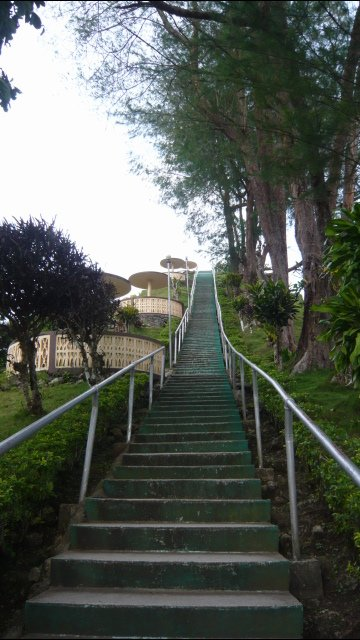 Stairs up to the viewing platform at Chocolate Hills