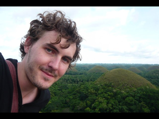 Adam at the Chocolate Hills