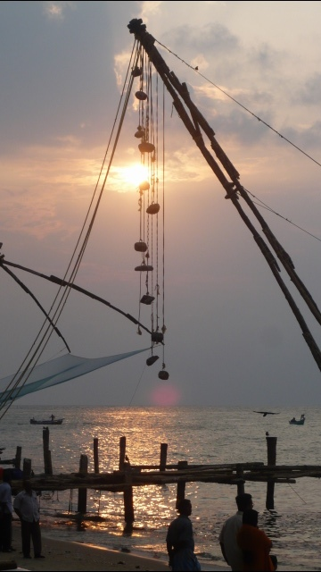 Chinese Fishing Nets at Sunset 2