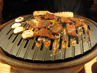 Grilled beef in a Seoul restaurant