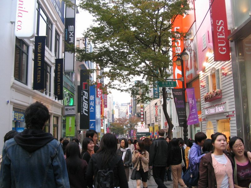 Shopping in Myungdong, Seoul