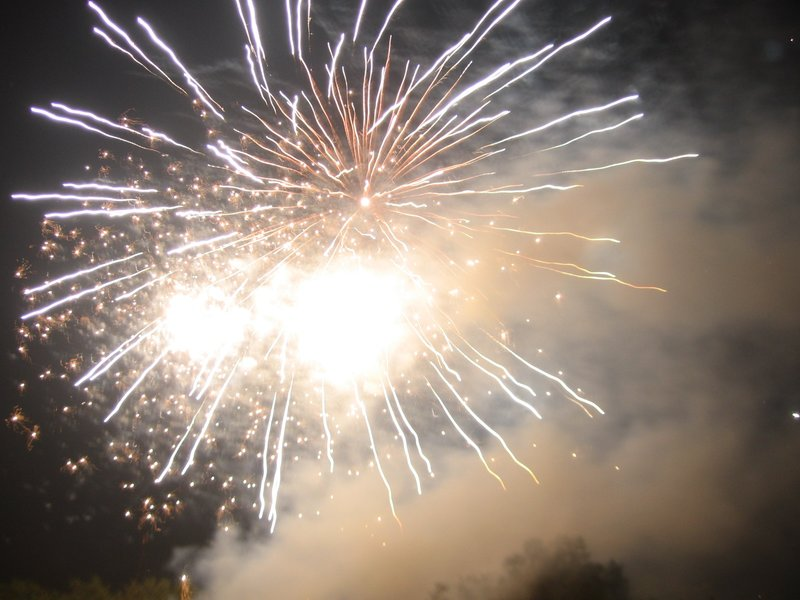 Fireworks on Guy Fawkes Day