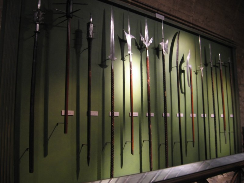 Spears in the Tower of London