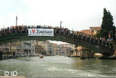 Traffic jam on Ponte Accademia - Venice